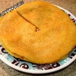 Moong Dal Chilla or Split Yellow Lentil Crepes (V+GF)