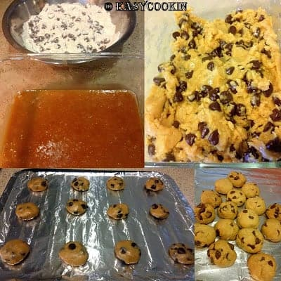 chili chocolate chip cookies process shots