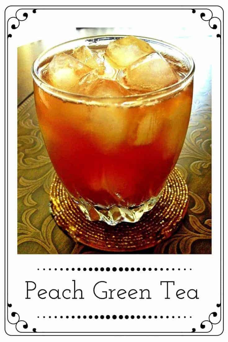 Peach Green Tea Recipe: #peactea #peachgreentea #sweettea #tea #drinks