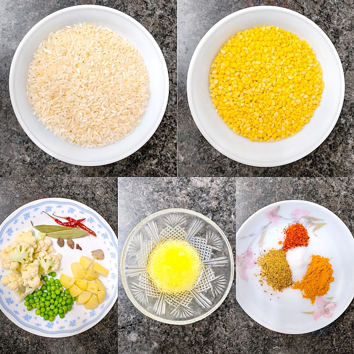 Bengali Bhoger Khichuri Ingredients