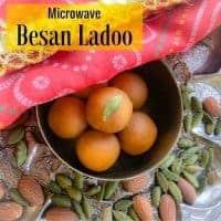 Microwave Besan Ladoo