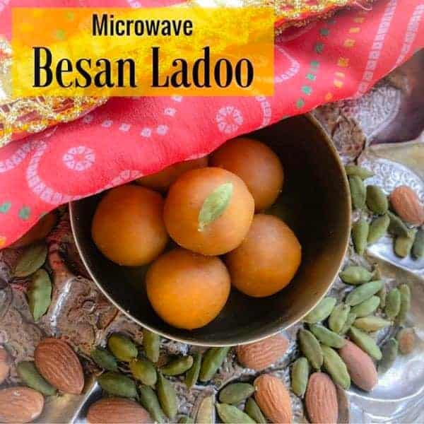 Microwave Besan Ladoo (4 Ingredients)