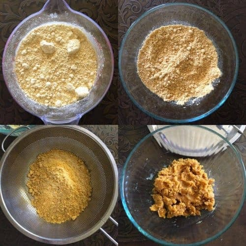 process to make microwave besan ladoo