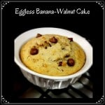 Eggless Banana Walnut Cake