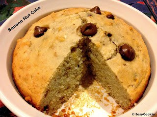 Eggless Banana-Walnut Cake