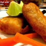Beer Battered Fish with Vinegar Carrots
