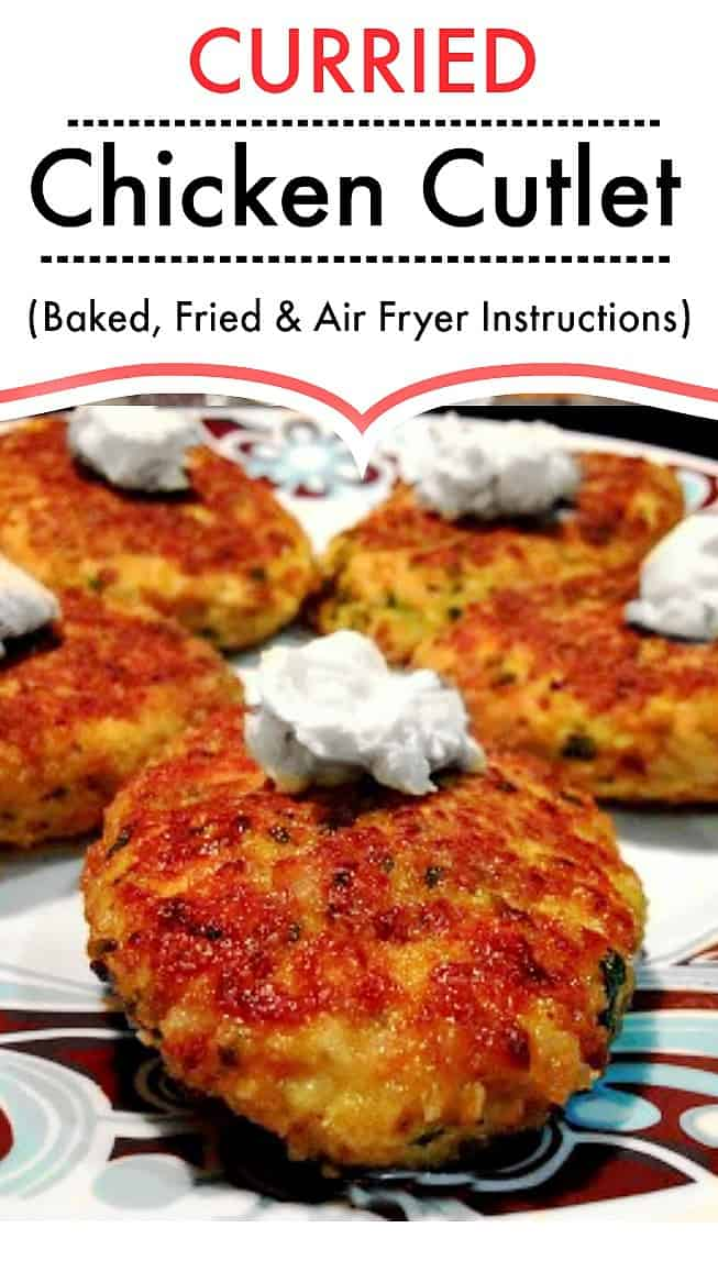 Curried Chicken Cutlet - Chicken Patties #currychicken #chickenpatties #chickencutlet