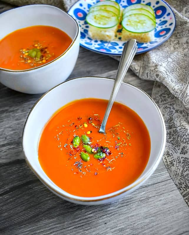 Roasted Red Pepper Tomato Carrot Soup