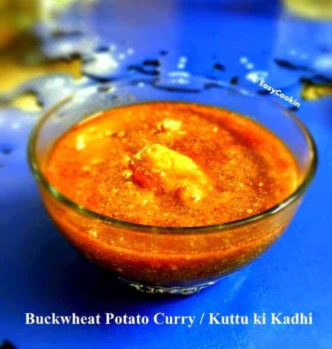 Buckwheat Potato Curry (Kuttu Kadhi)