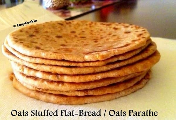 Oats Stuffed Flatbread - Oats Parathe