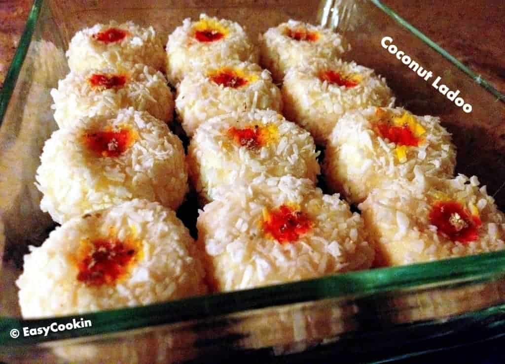 Instant coconut sweets - Instant coconut ladoo