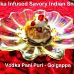 Vodka Infused Savory Indian Snack (Vodka Pani Puri)