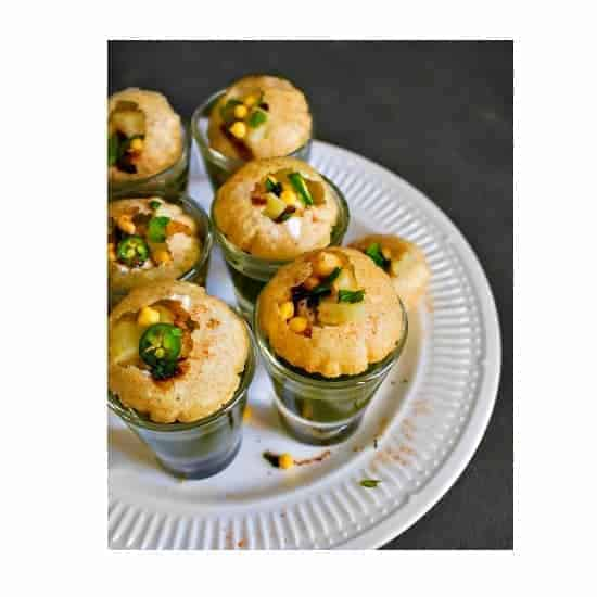 Vodka Pani Puri - (Vodka Infused Savory Indian Snack)