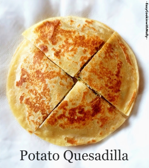 Potato Quesadilla with cheese