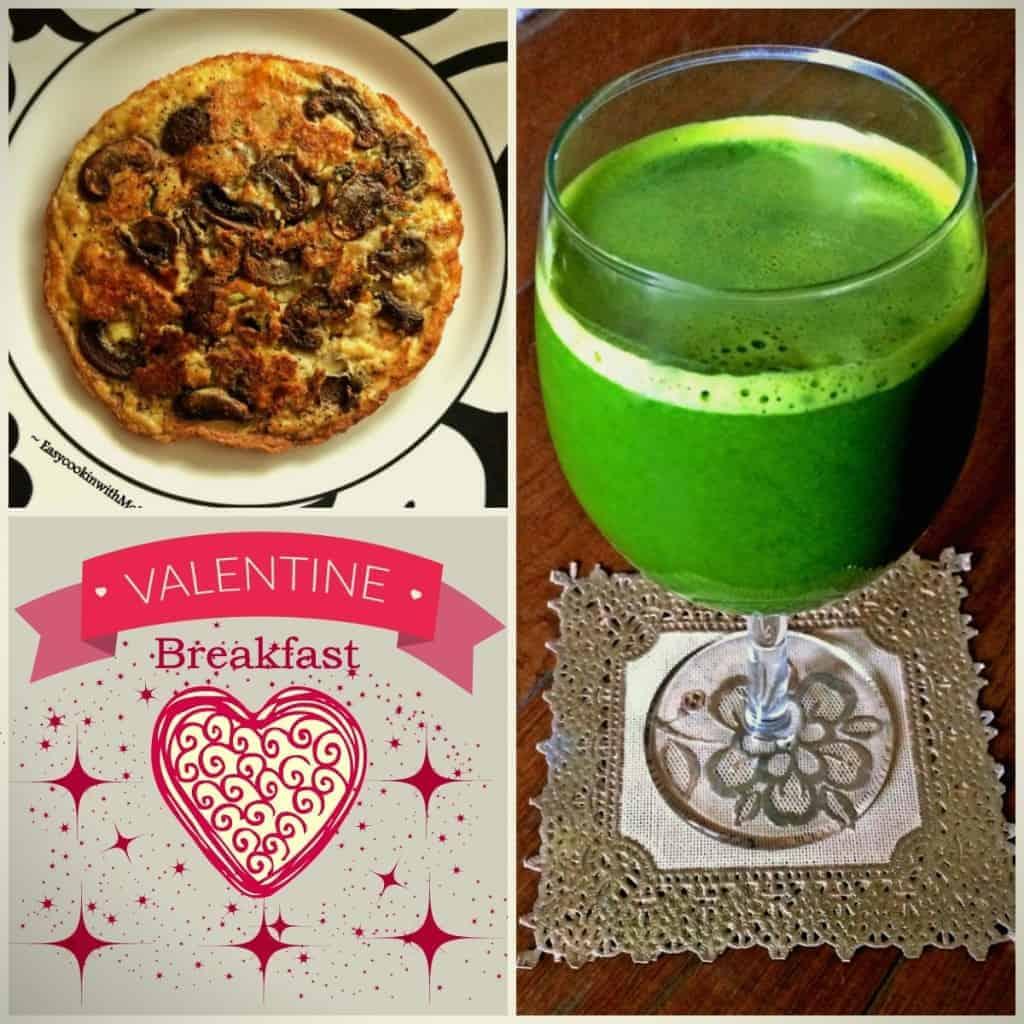 Mushroom Omelette and Green Juice