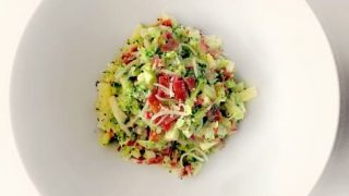 Broccoli Apple Bacon Salad (Quick Meal)