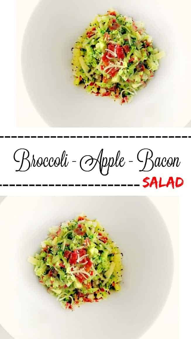 Broccoli Apple Bacon Salad (Quick Meal): #broccoli #bacon #apple #salad