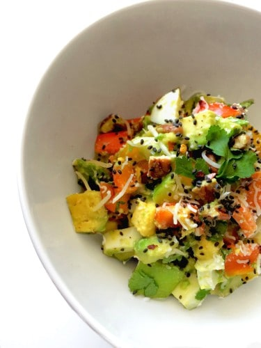 5 Minutes Mexican Breakfast Bowl - Sprinkled with Chia Seeds