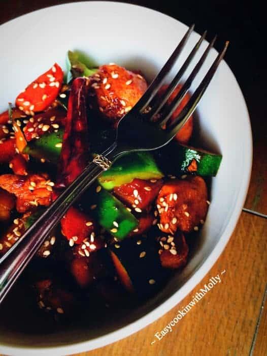 Stir-fry-sesame-chicken