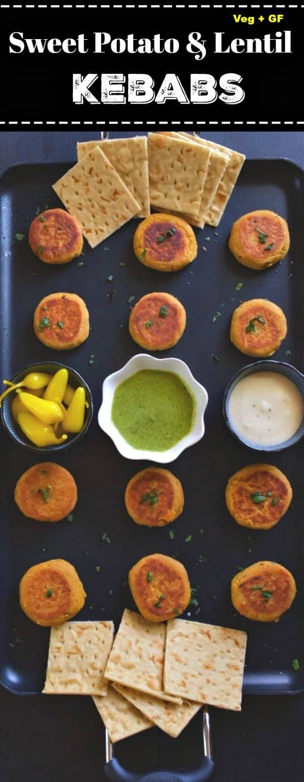 Sweet Potato and Lentil Kebabs: #sweetpotato #sweet #potato #kebabs