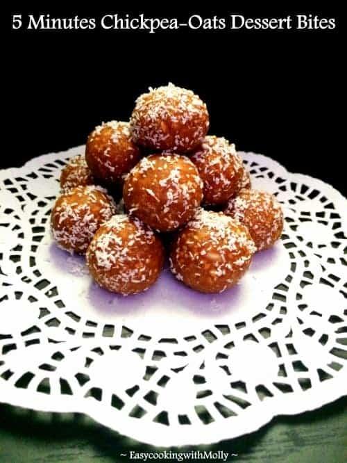 5 Minutes-Oats-Dessert Bites