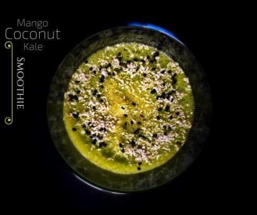 Mango Coconut Kale Smoothie