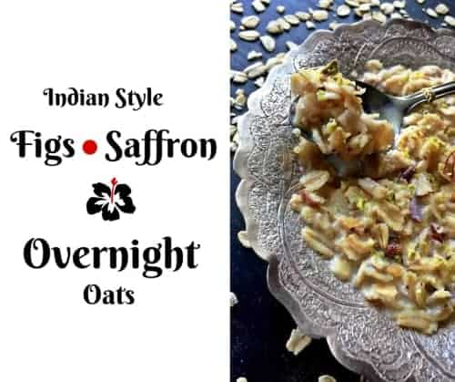 Fig-Saffron Oats