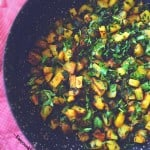 MeatlessMonday : Sauteed Potato and Watercress (Aloo-Methi)