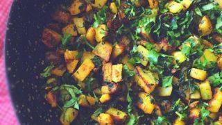 Sauteed Potato and Watercress - Quick Vegan Side