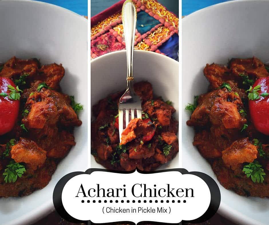 how to make achari chicken recipe