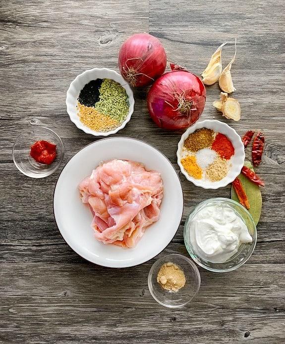 Achari Chicken Ingredients