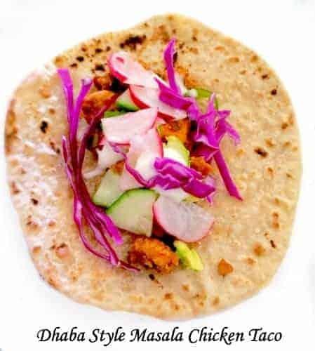 Dhaba Style Masala Chicken Taco