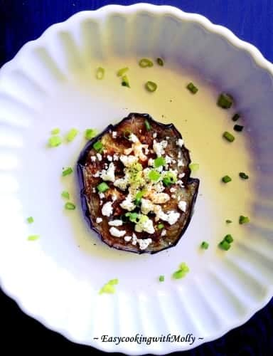 Pan-Roasted Eggplant with Feta
