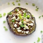 7 Minutes Pan Roasted Eggplant with Feta – #MeatlessMonday
