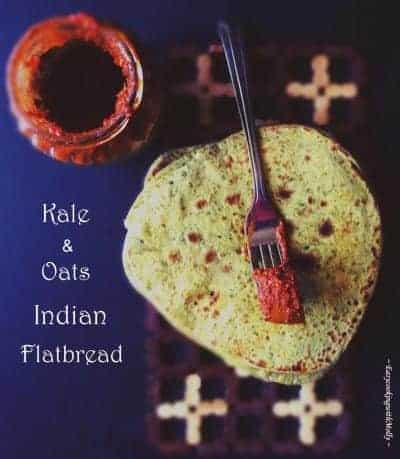 Kale Oats Paratha - Kale Indian Flatbread
