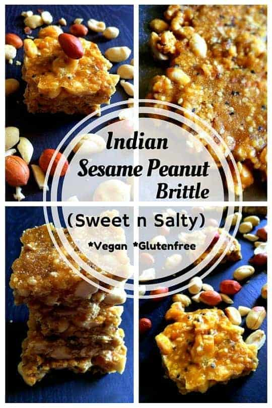Indian Sesame Peanut Brittle : #peanut #brittle #Indian