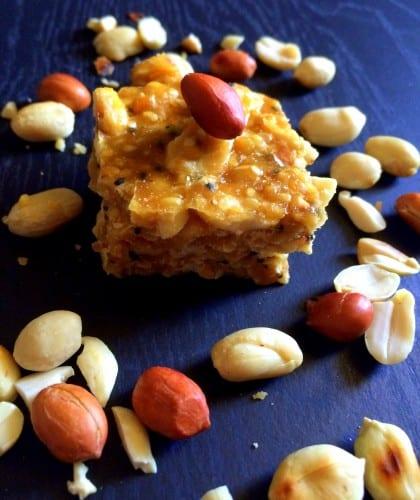 Til Mungfali ki Chikki (Indian Sesame Peanut Brittle)