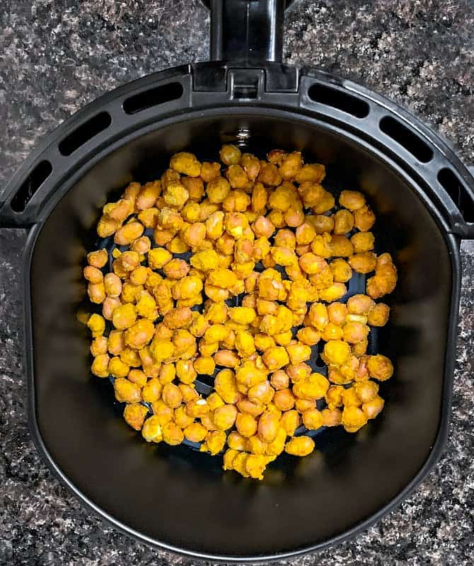air fryer masala peanuts process