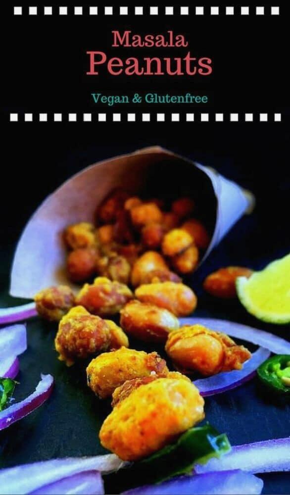 Masala Peanuts (Indian Nutcracker Peanuts) : #masala #peanuts #vegan