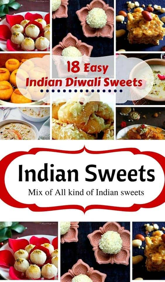 18 Easy Indian Diwali Sweets: #indiansweets #mithai #gulabjamun #diwali
