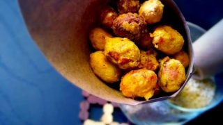Air Fryer Masala Peanuts - Spicy Peanuts (Fried+Baked Version too)