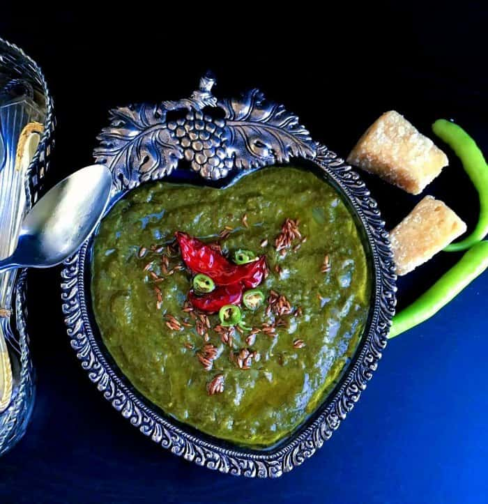 Sarson ka Saag recipe using mustard leaves, spinach and broccoli