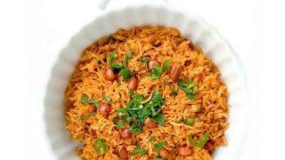 Curried Tomato Peanut Rice (Vegan + Glutenfree)
