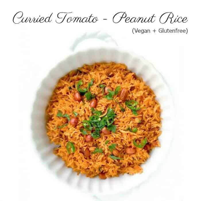 Curried Tomato Peanut Rice - Tomato Rice Recipe