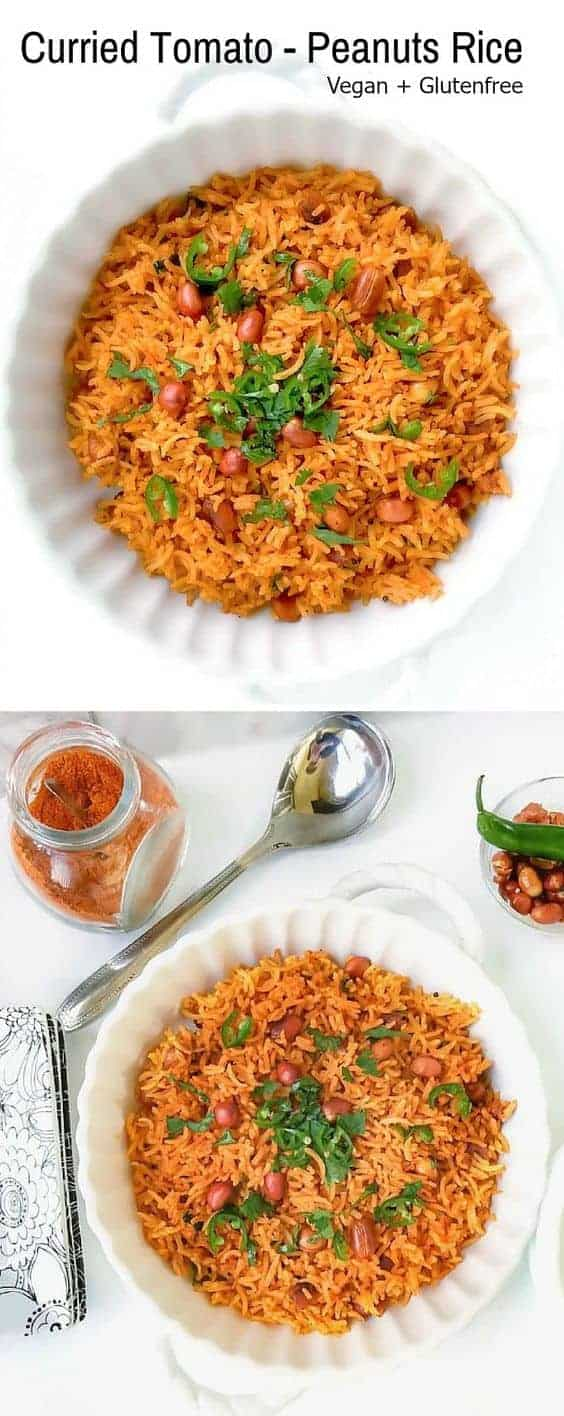 Curried Tomato Peanuts Rice