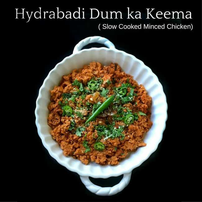 Hyderabadi Dum ka Keema in a white bowl