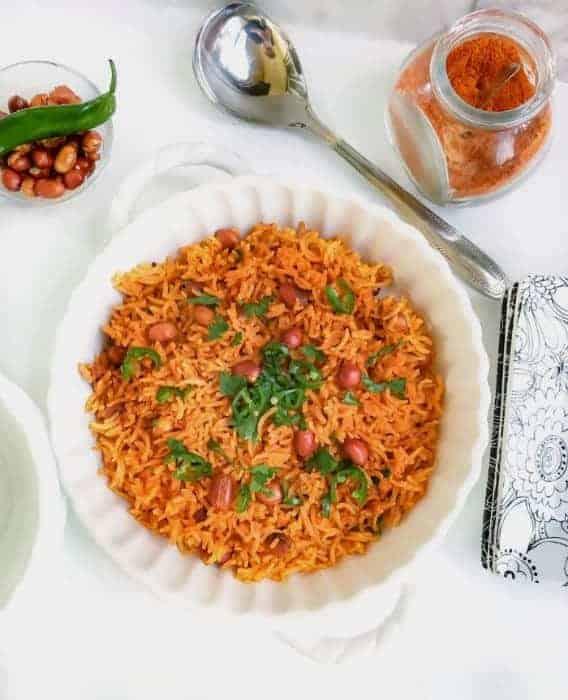 Curried Tomato Peanut Rice