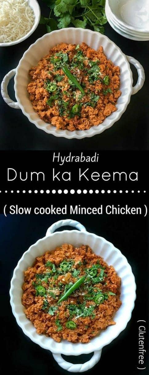 Hydrabadi Dum ka Keema (Chicken mince in Indian spices): #hydrabadi #dum #keema #chicken