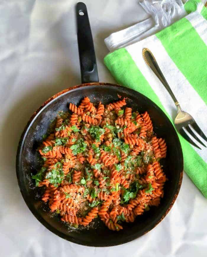 Tomato Peas Pasta recipe using pasta sauce