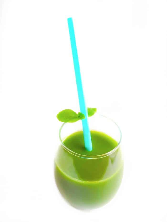 mint, cucumber and green vegetable juice